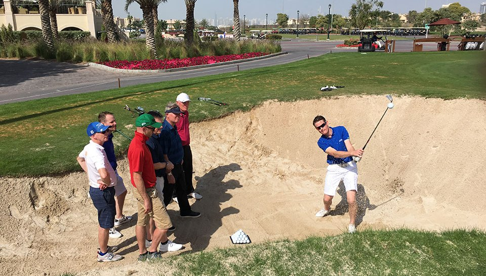 UAE golf schools - bunker lesson