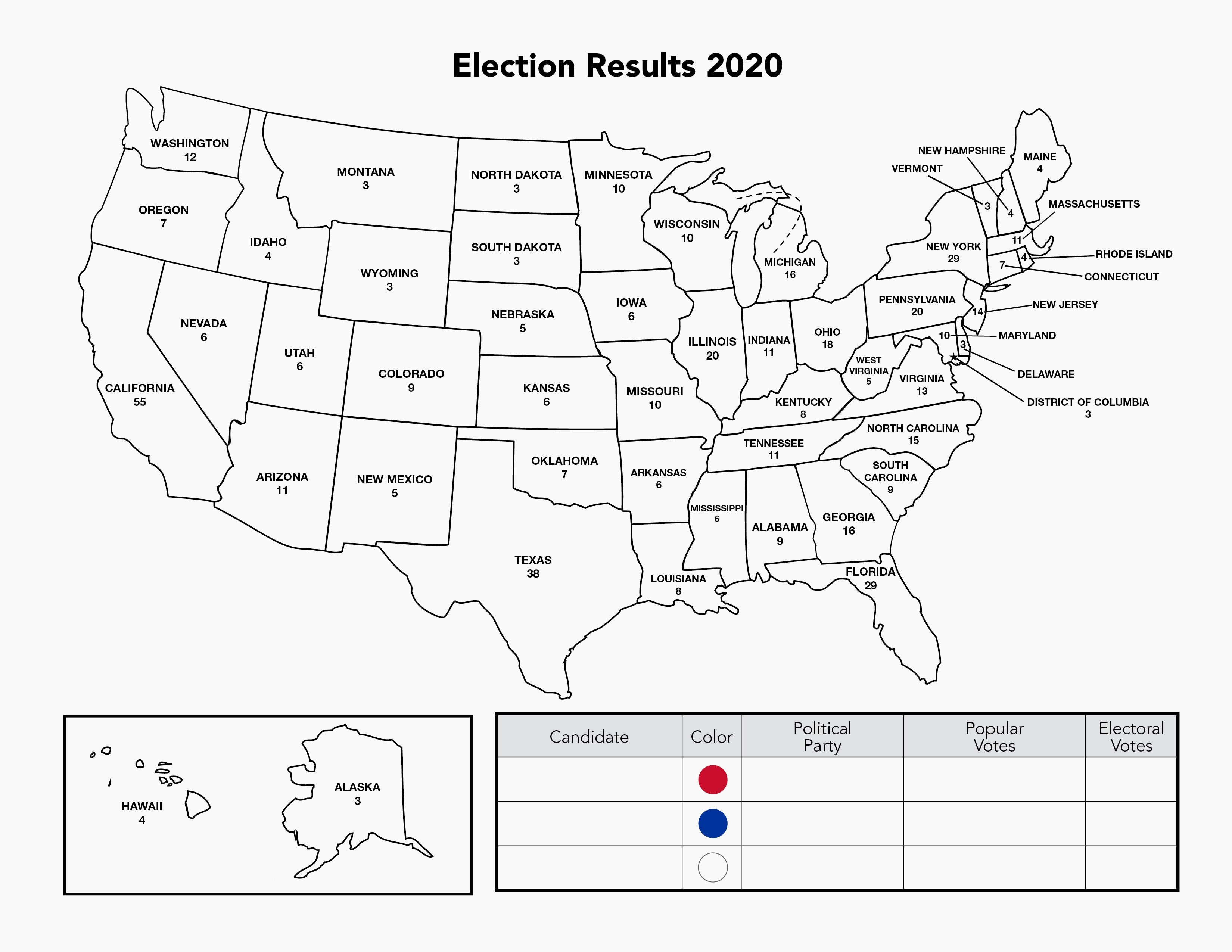 Red States Blue States Mapping The Presidential Election