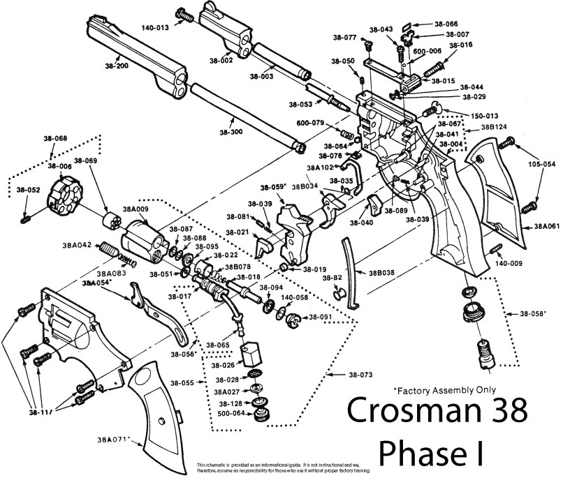 Crs38sk Complete Crosman 38 Seal Kit