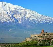 Armenian monastery with Mt. Ararat in the background