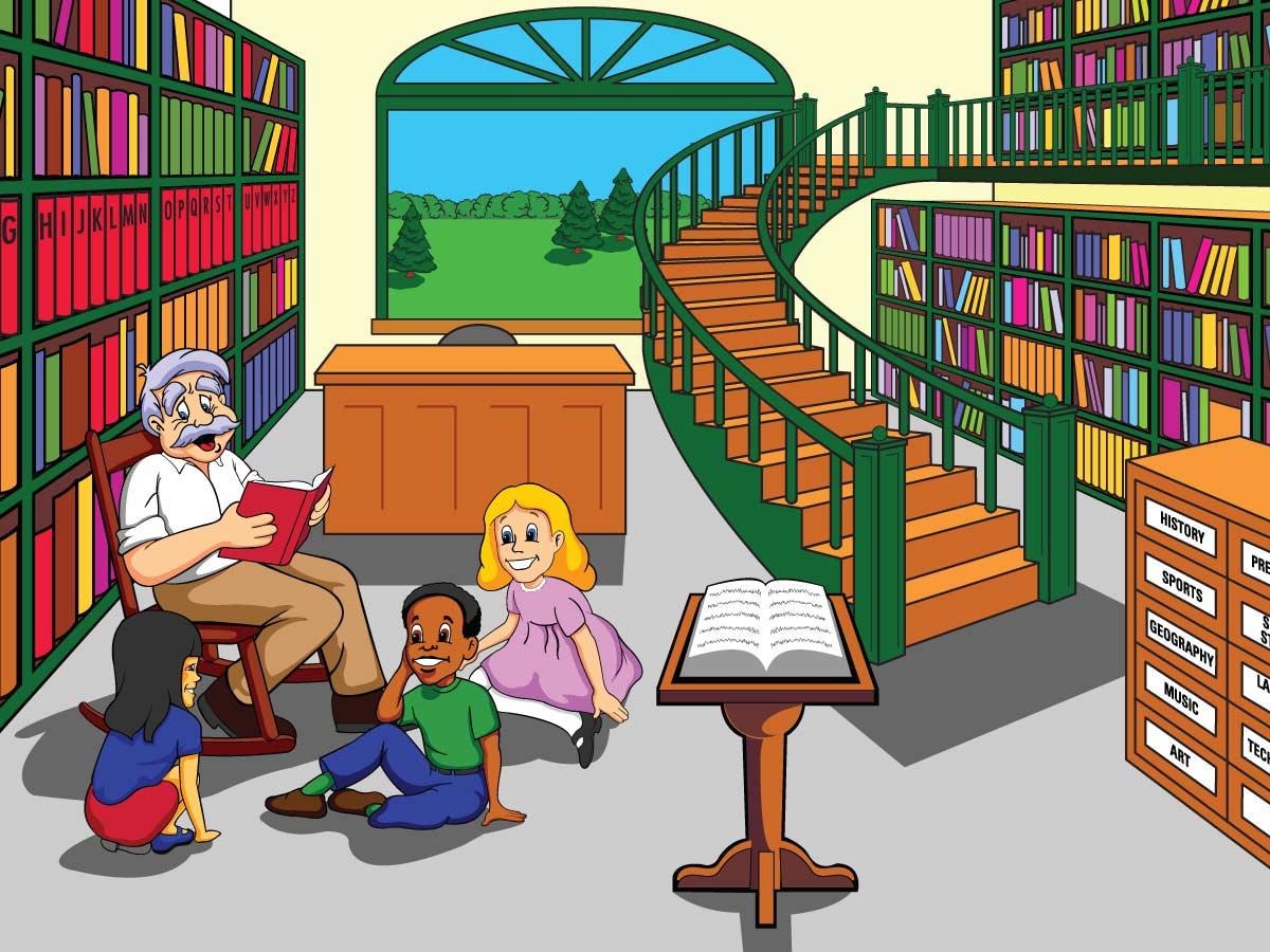 Library Illustration Jesse Gigandet
