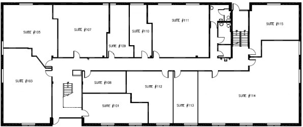 Brookdale West Office Space for Lease - Floor 1 Plan