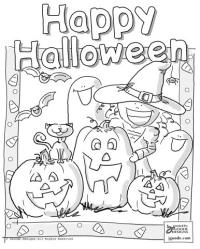 free halloween coloring pages preschool