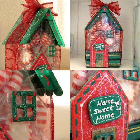 3D house die from Eileen Hull and Sizzix, decor by Jen Goode