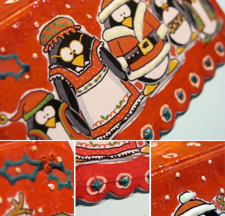 Decorated treat bag topper by Jen Goode