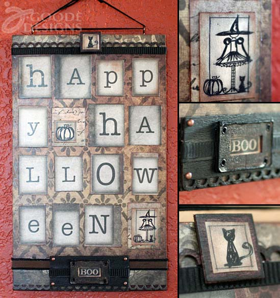Happy Halloween wall decor by Jen Goode