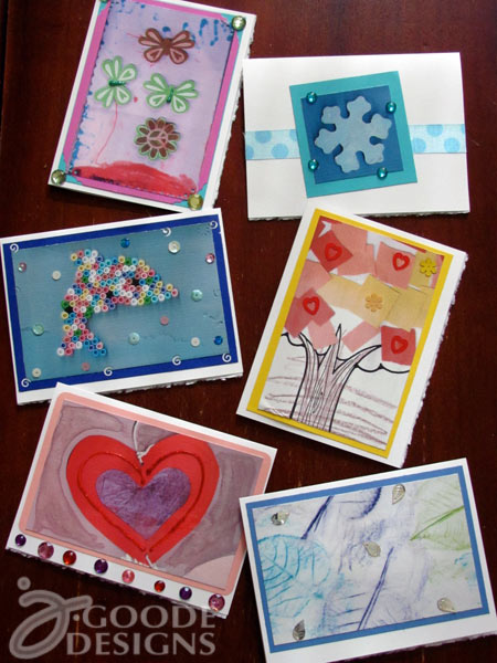 Kids card making with the flip pal and a giveaway 365 days of crafts handmade cards featuring kids art scanned with a flip pal mobile scanner m4hsunfo