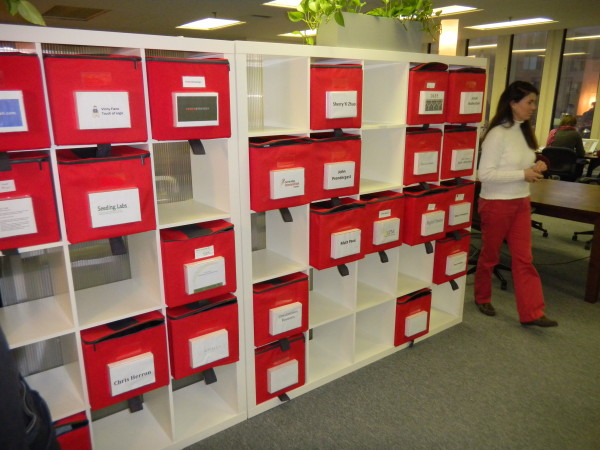 Drop boxes (not really mail boxes) at the CIC co-working spot