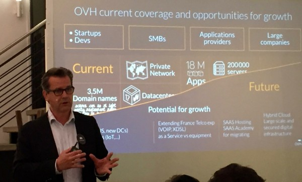 Laurent Allard, CEO of OVH, during the New York, NY stop of the OVH World Tour in June 2015