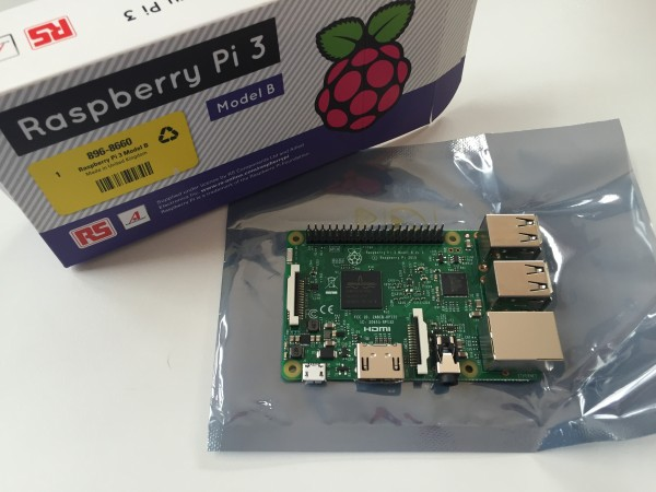 Raspberry Pi 3, Model B is really similar to the RPI 2, although I must admit I really like the Made in United Kingdom sticker