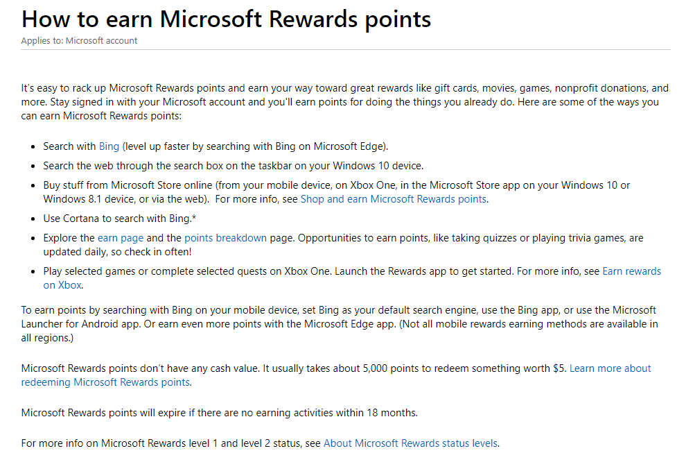 Earn Rewards For Searching With Bing