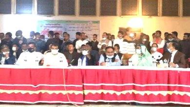 Photo of হরিণাকুণ্ডু উপজেলা ও পৌর আ' লীগের নৌকার নির্বাচনী সভা অনুষ্ঠিত
