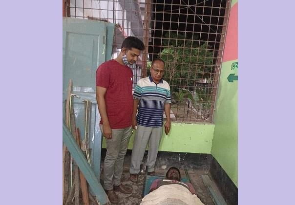 কালীগঞ্জে আখ বোঝাই পাওয়ার টিলার উল্টে চালক নিহত