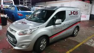 JHDS Edinburgh Plumbing & Tiling Van