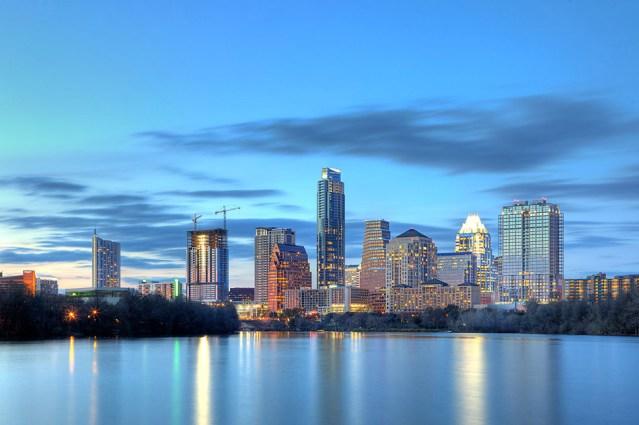 Austin Skyline photograph, taken for the Austonian building