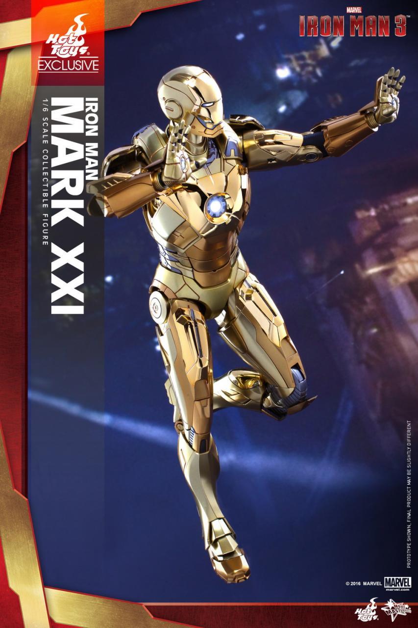 Hot Toys Iron Man 3 Iron Man Mark XXI 21 Midas Gold