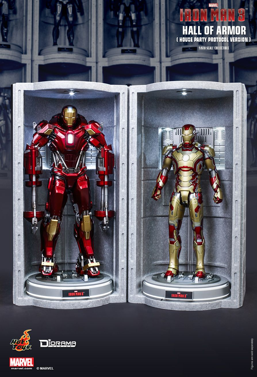 Hot Toys Iron Man 3 Hall Of Armor House Party Protocol