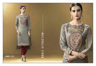 Eternal Glint art silk based Kurtis Catalog