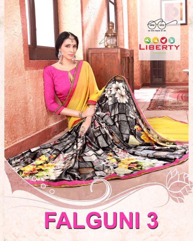 liberty lifestyle Falgunni vol-3 sarees catalog