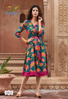 tanuza fashion ethnic digital printed kurtis catalog