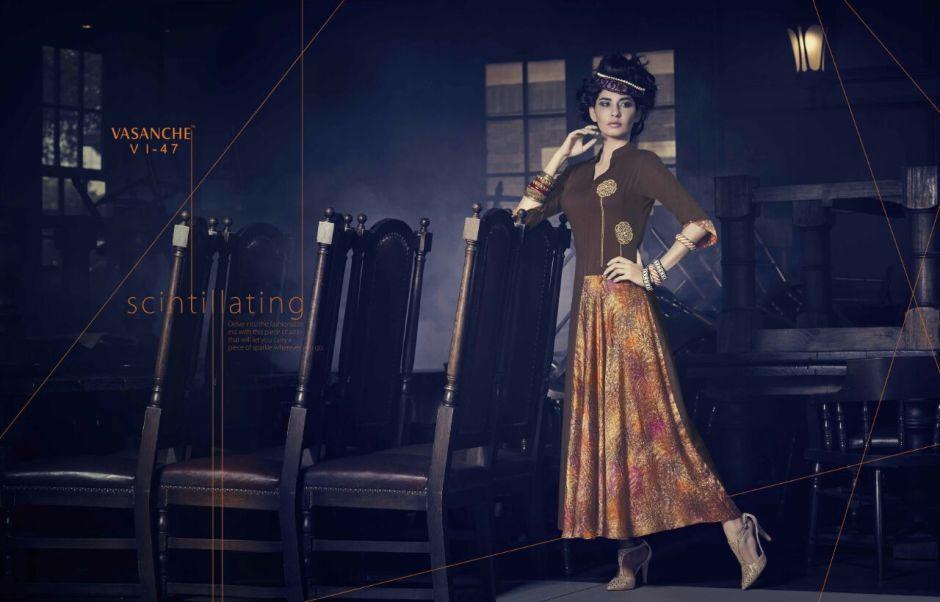 Vasanche parula designer kurti catalog