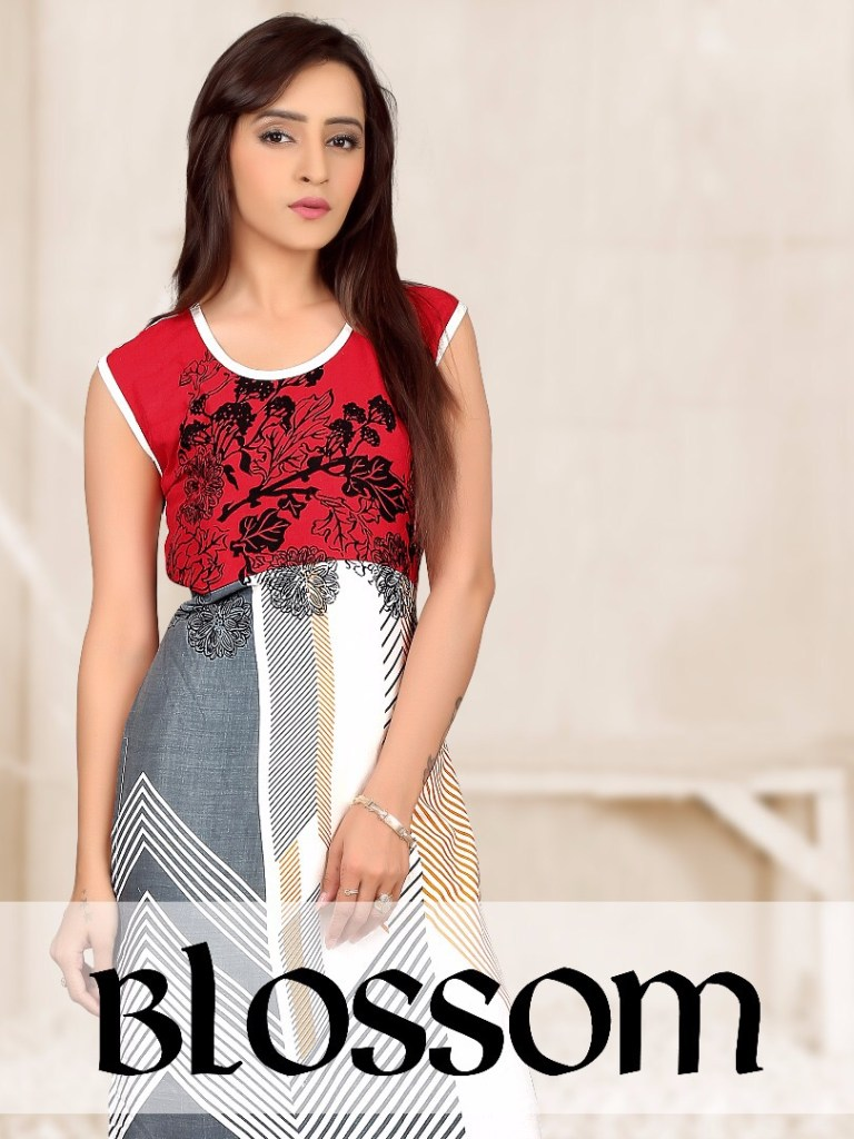 FLYING LADY BLOSSOM RAYON KURTIS CATALOG