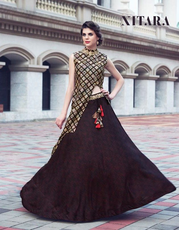 Nitara nilaya one piece full style gown at wholesale rate dealer