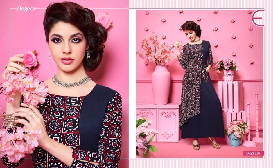 kajree fashion runway fancy gowns style kurties catalog at wholesale price