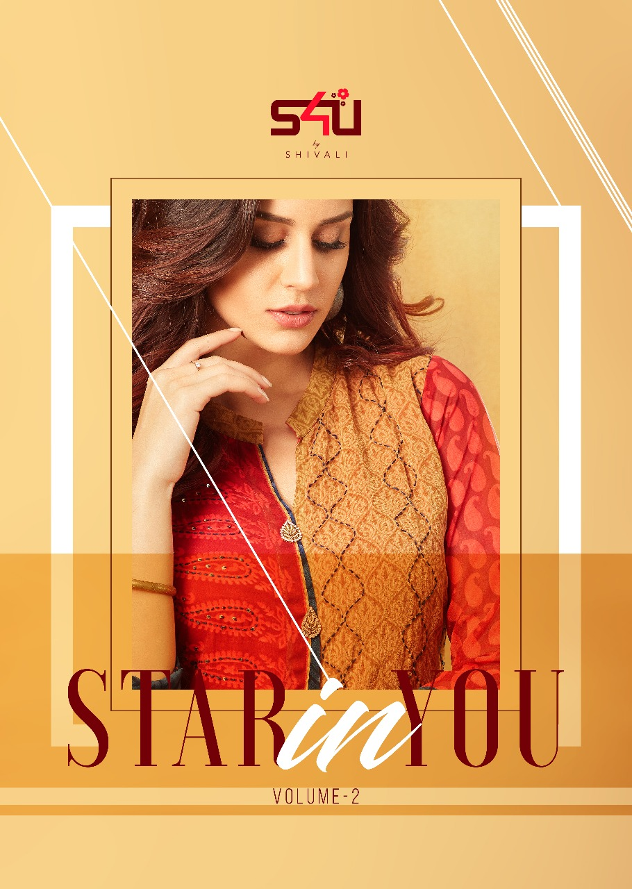 s4u by shivali brings fancy kurties star in you collection at wholesale rate supplier