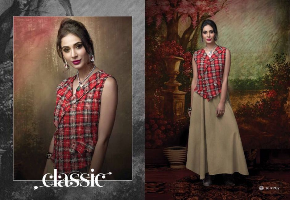 Krishryaa miss diva jacket style kurtis collection attached accessories