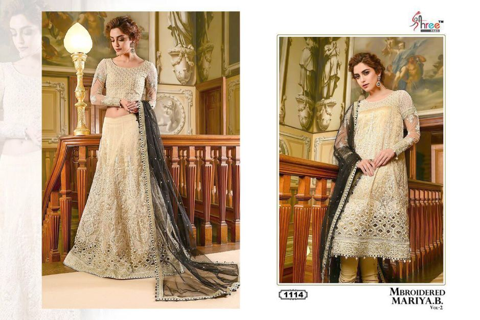 Shree fabs embroidered maria b heavy embroidered salwar kameez