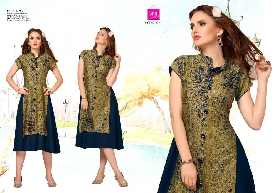 Vini grazia cotton printed designer kurtis catalog