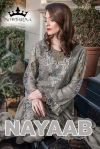 Mohtarma fabrics nayaab heavy embroidered suits