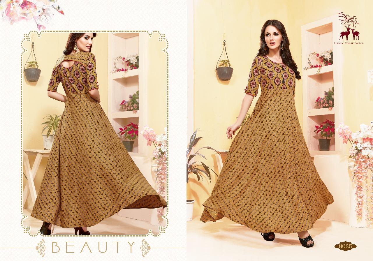 Mrigya attitude long Gown kurties Catalog Supplier