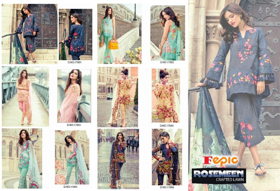 fepic rosemeen crafted lawn salwar kameez catalog