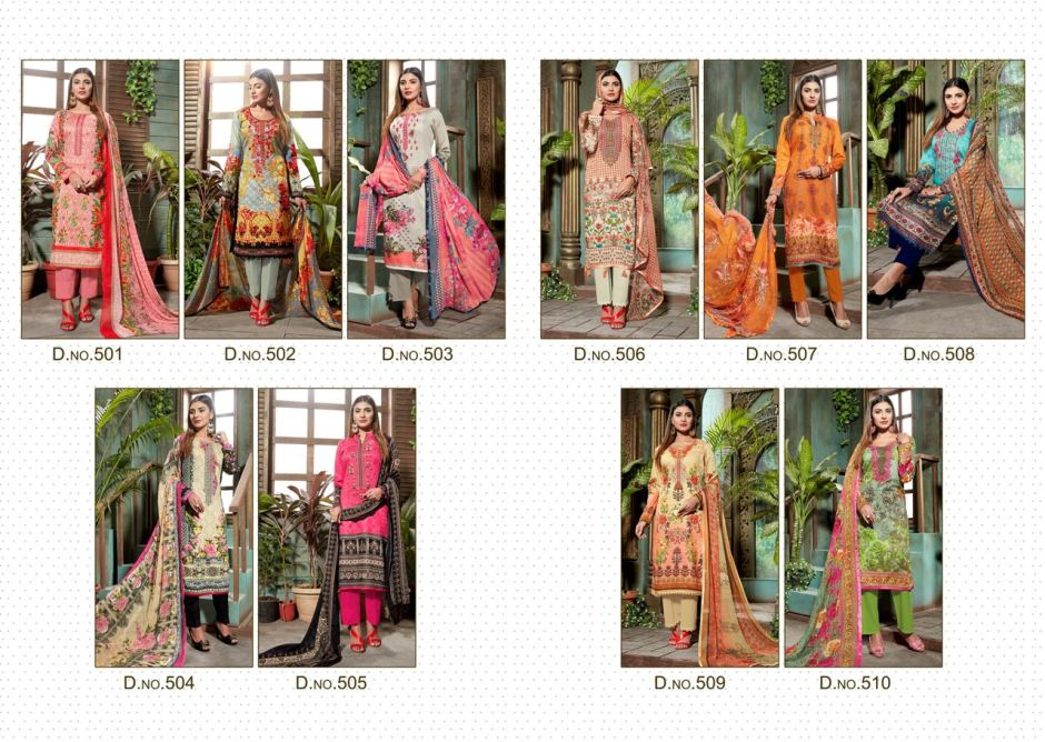 House of lawn muslin vol 5 jam silk karachi suits Chiffon dupatta collection