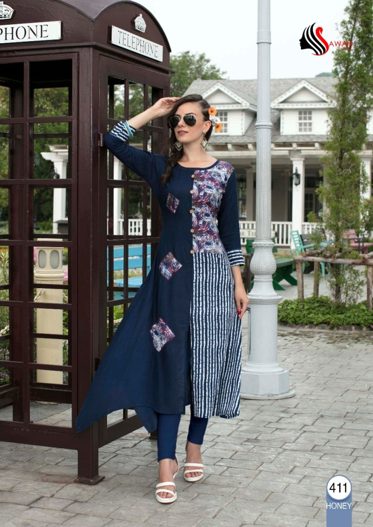 Sawan creation honey vol 4 kurties collection sellers