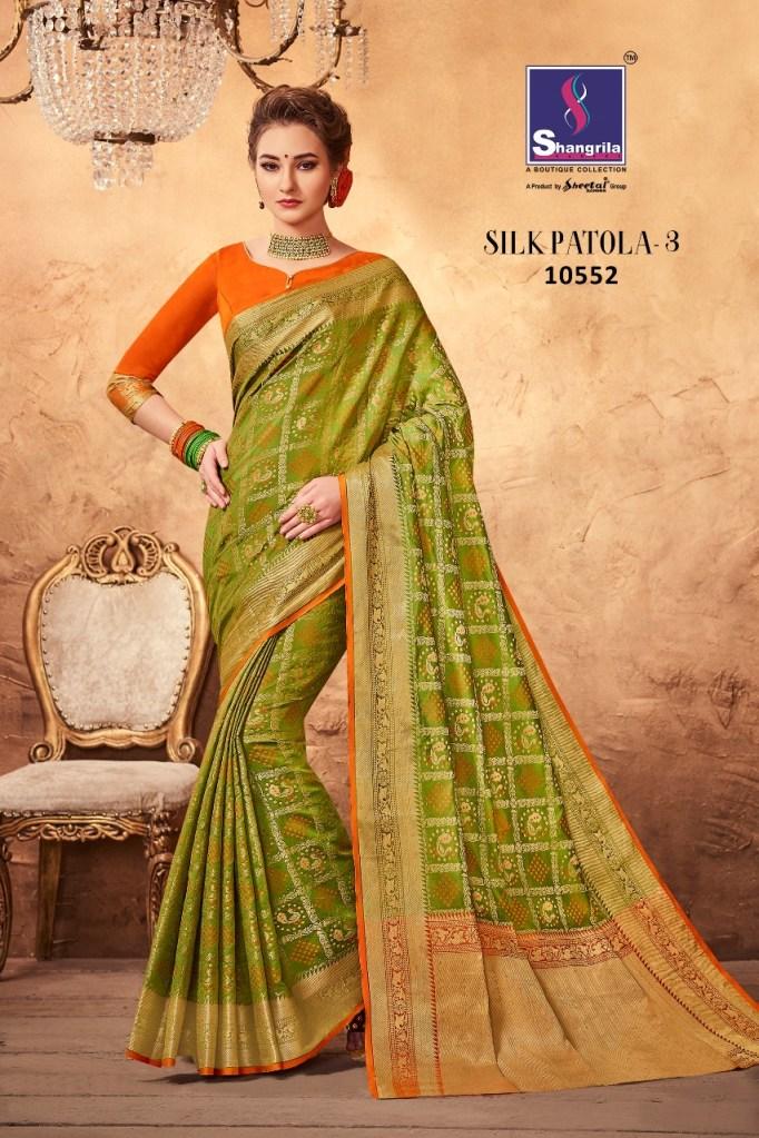 Shangrila silk patola vol 3 sarees Collection
