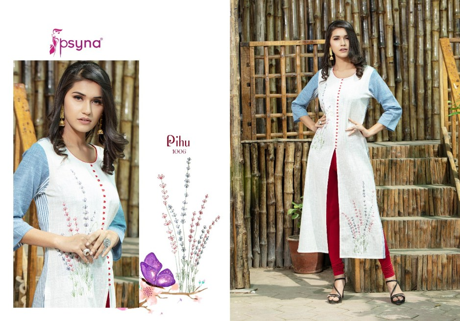 psyna presents pihu mesmerising collection of kurtis