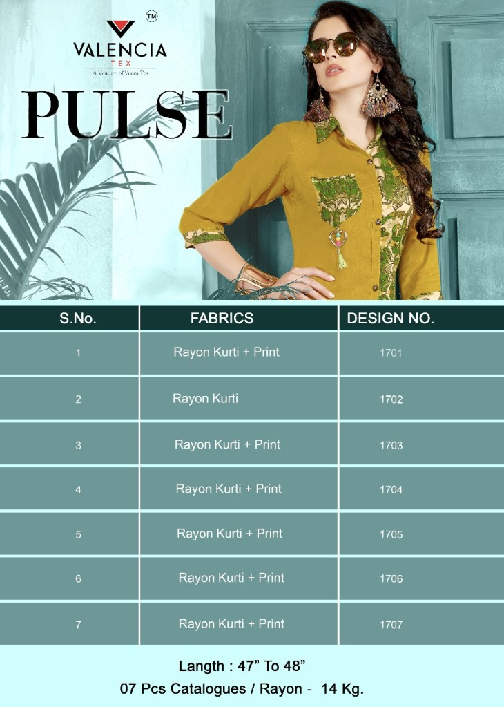 Veera tex pulse Kurties Collection dealer