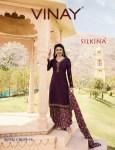 Vinay fashion presents silkina royal crepe 16 exclusive collection of salwar kameez