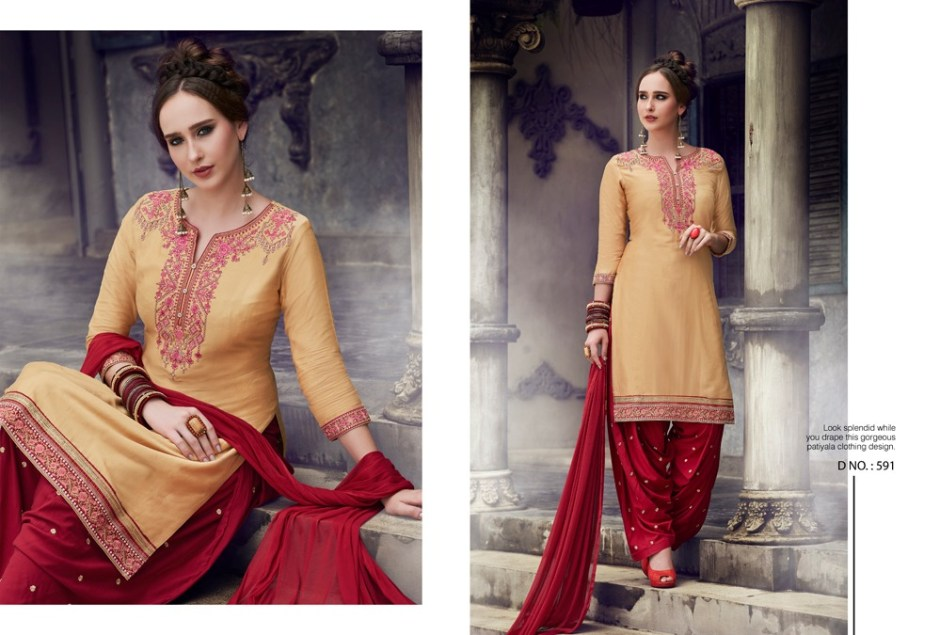 Kajree fashion presenting fashion of patiala vol 19  fancy concept of top kurti with patiala