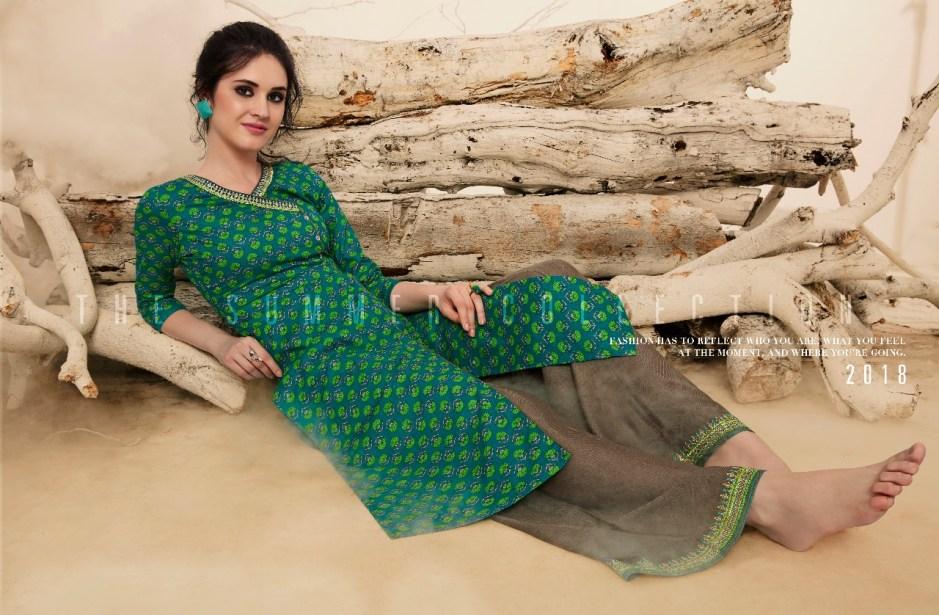 Rangoon presents victoria cotton printed long kurtis