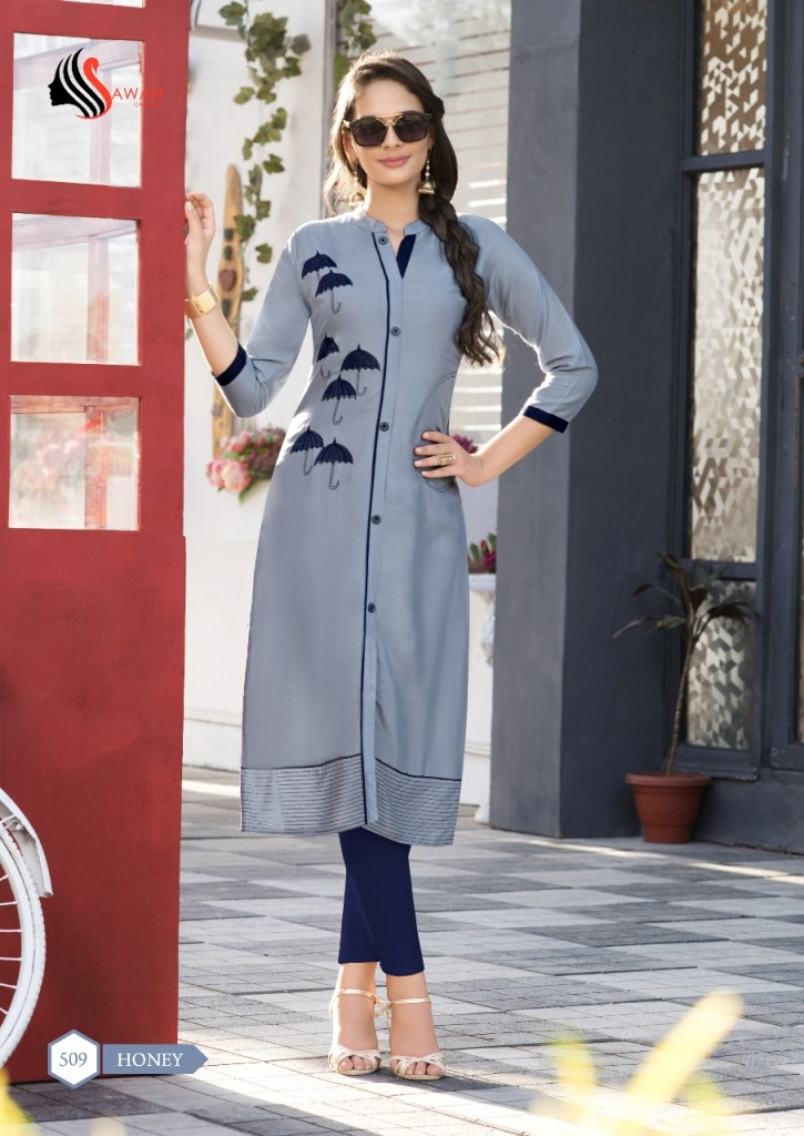 Sawan creation presents honey volume 5 beautiful design concept kurtis