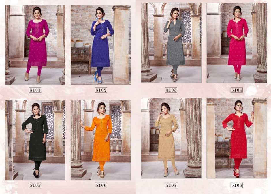 Vesh launch muskan fancy collection of kurtis