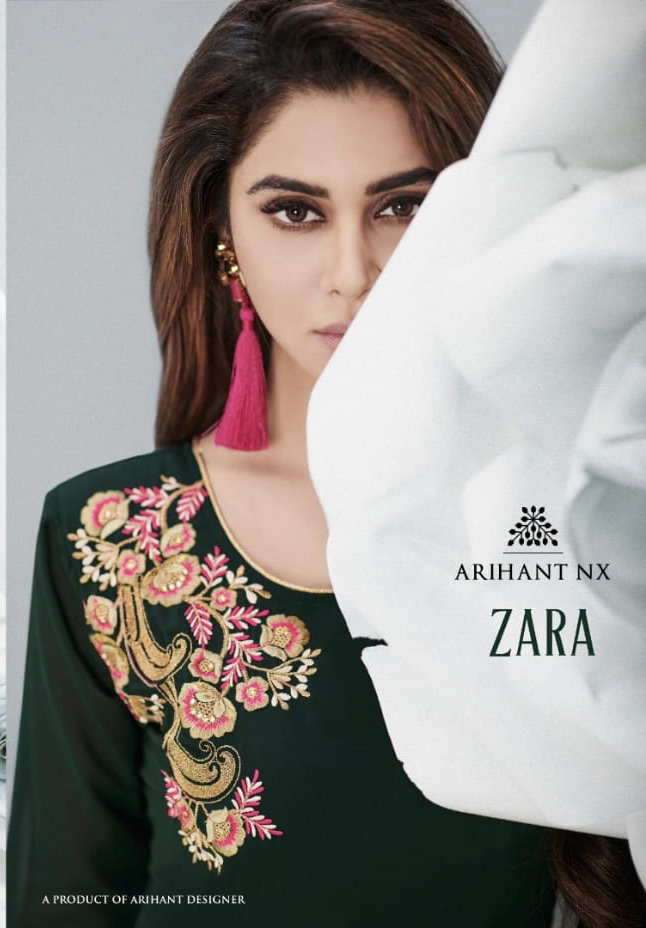 Arihant designer presents zara stylish party wear gown concept