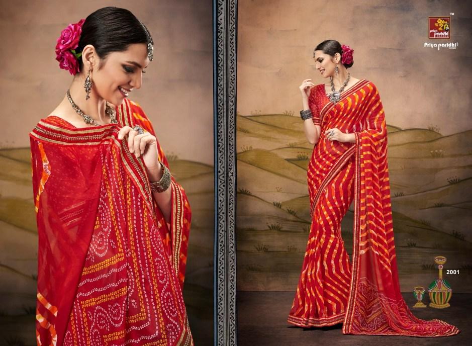 Priya paridhi presents the tradition beautiful lehariya sarees concept