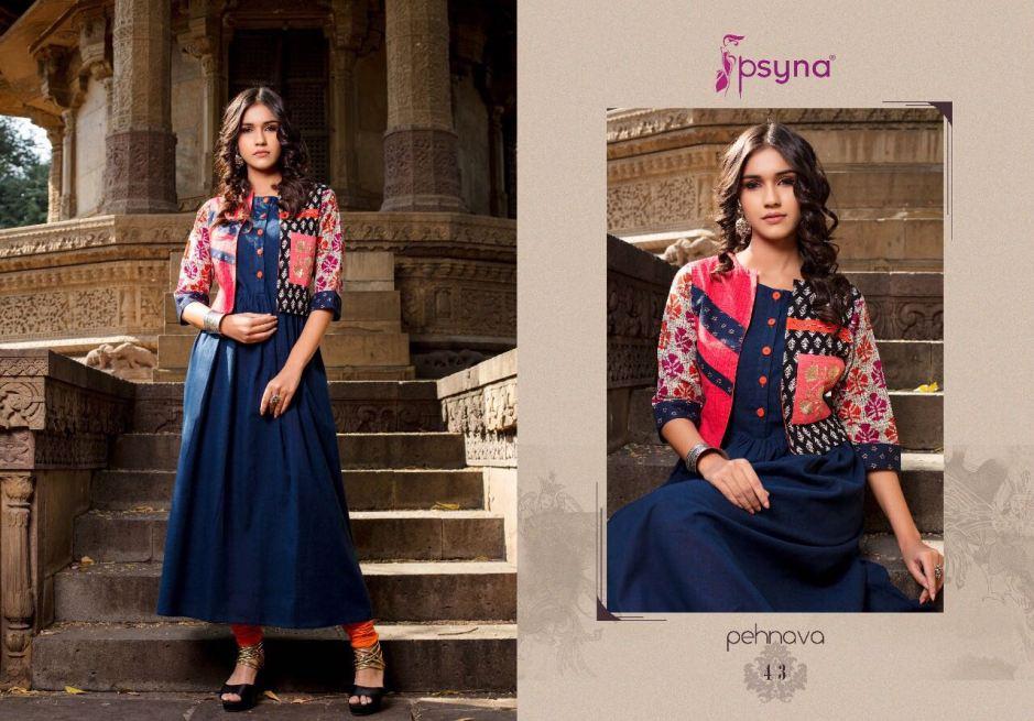 Psyna launch pehnava vol 4 stylish jacket concept kurtis
