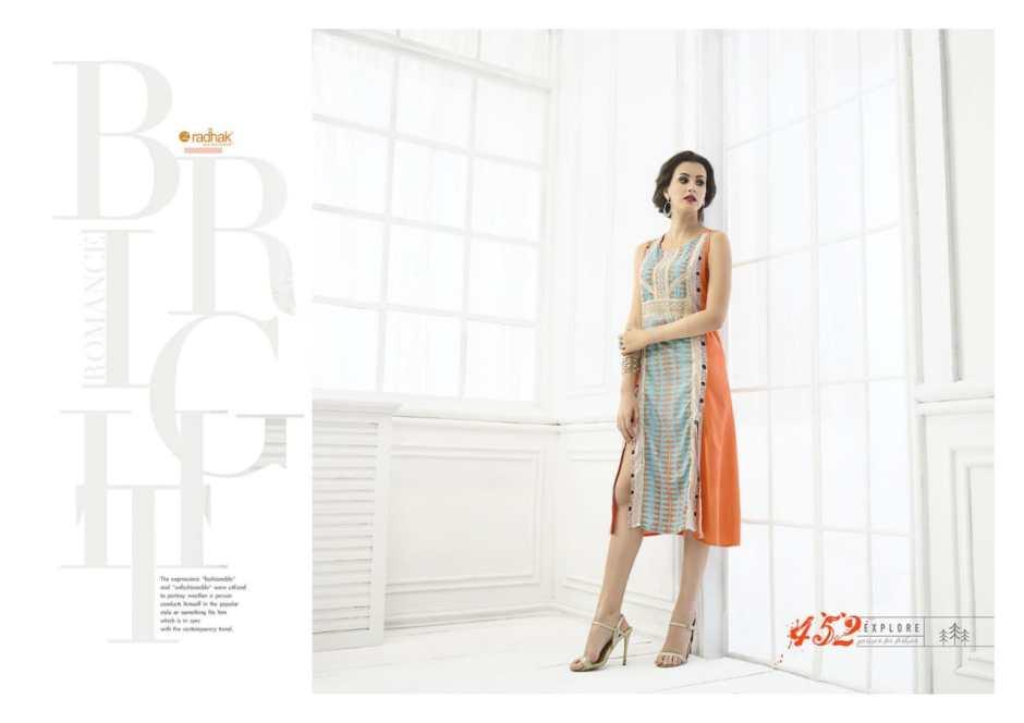 Radhak presents rukmee 4 fashionable concept kurtis