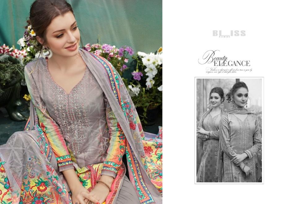 Bliss presenting dazzle beautiful casual runninh wear digital printed collection of salwar kamesz